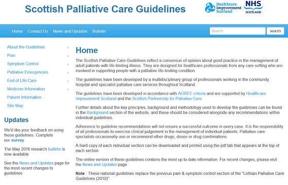 Scottish Palliative Care Guidelines Care In The Last Days